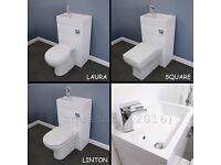 Brand New Toilet & Basin Sink Combination Cloakroom