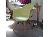Lovely lime / yellow Eames style chair