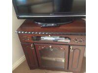 Mahogany TV unit