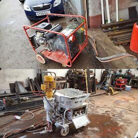 Render Machine-Putzmeister M25 and Generator petrol 20KVA