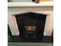 """BRAND NEW 54"""" GOTHIC STYLE STONE MANTLE WITH GRANITE SET"""
