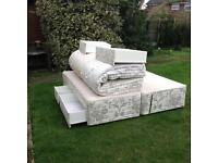 Extra large double bed.