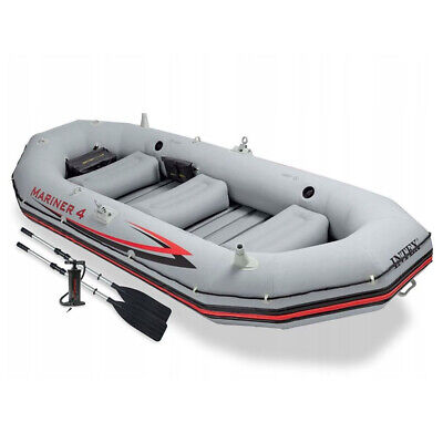 INFLATABLE BOAT INTEX MARINER 4 FISHING BOAT 4 PERSON / FOR OUTBOARD ENGINE