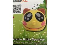 Portable kitty speaker