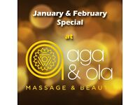 A WARM MASSAGE AWAITS YOU AT AGA & OLA, come along and warm your Mind, Body and Soul this winter
