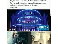 Odeon cineworld cinema tickets