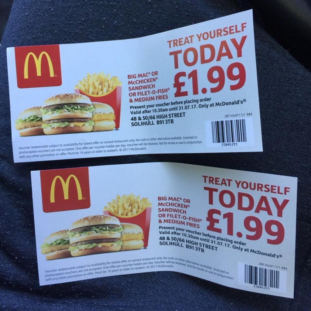how to get mcdonalds vouchers