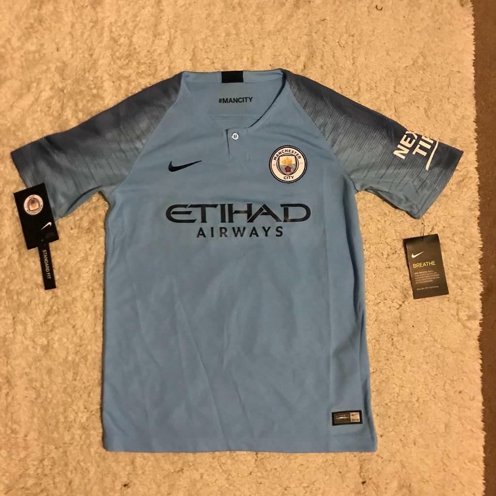100% authentic 8ae8d 50bdc 100% genuine Kids Manchester City FC home football shirt, 18/19, De Bruyne  17, Age 12/13 years | in York, North Yorkshire | Gumtree