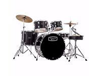 Upgraded Mapex Tornado III 22'' Rock Fusion Drum Kit in Black