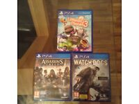 PS4 MIXED BUNDLE GOOD CONDITION WITH WATCHDOGS UNOPENED