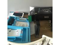 Black Nintendo Wii +games +wii fit and board- original box