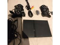 PS2 Slim with 2 controllers (very good condition)