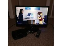 22inch LG TV with built in freeview - free portable did player chucked in!!