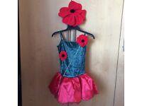 Beautiful poppy dance costume & headband