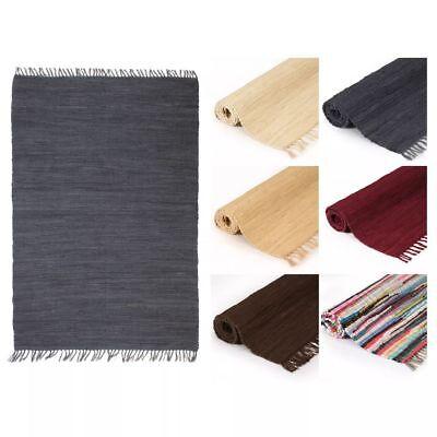 vidaXL Teppich Chindi Handgewebt Baumwolle Flickenteppich mehrere Auswahl