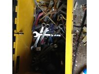 Job lot of spanners. stillsons etc