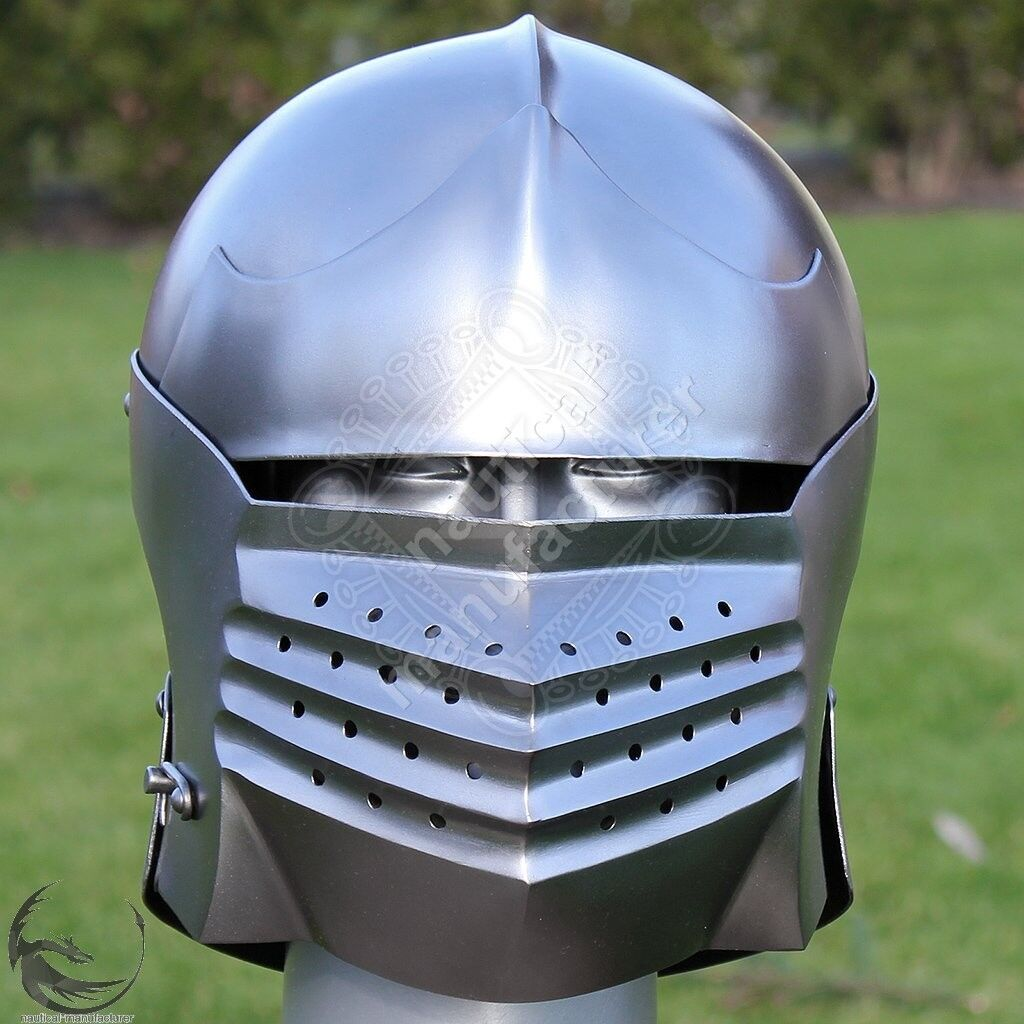 Medieval Great Templar Helmet ~ sca~jousting~steel helm~knight~Hand-Forged