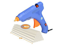 Hot Glue Gun,60 Watt Hot Melt Glue Gun with 20PCS Transparent Glue Gun Sticks for Arts & Crafts