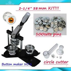 Title: 2-1/4 DIY Button maker kit!!Badge Maker+ Cutter+100 Pins