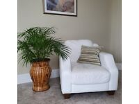 White leather arm-chair