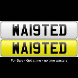 """NUMBER PLATE FOR SALE """"""""""""WA19 TED"""""""""""""""""""