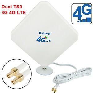 Dual 35dBi 3G 4G LTE MIMO ZTE MF910 MF90C MF75 MF823 Antenna TS9 plug& 2m Cable