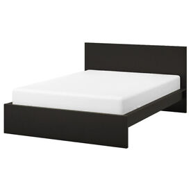 MALM double bed, black