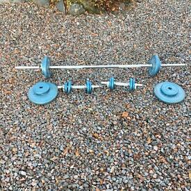 Weight training set