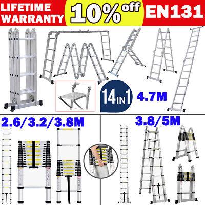 Aluminium Ladders Telescoping Multi-purpose Extension Folding Step Ladder
