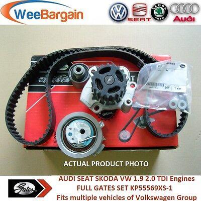 AUDI A3 A4 VW Golf Passat 19 20 TDI 8v KP55569XS 1 Timing Belt Kit Water Pump