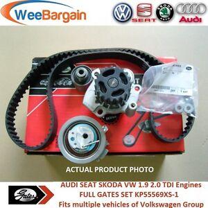 AUDI A3 A4 VW Golf Passat 1.9 2.0 TDI 8v KP55569XS-1 Timing Belt Kit Water Pump