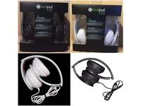 Output overhead headphones gaming, music, quality sound brand new resale wholesale job lot