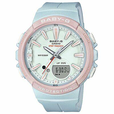 Casio BABY-G SHOCK BGS100SC-2A Analog-Digital Step Tracker Runner Series Watch
