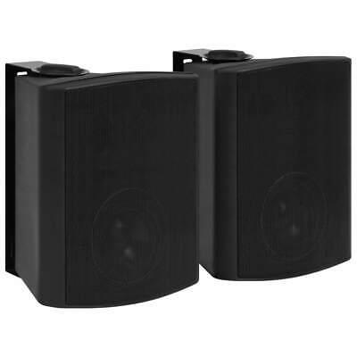 vidaXL 2x Altavoces Estéreo de Pared Negro Interior/Exterior 120 W Portátil