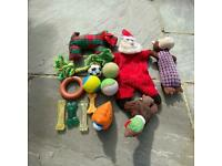 Dog toys 12 assorted
