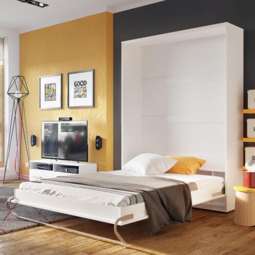 concept verticaal opklapbed wit mister bed