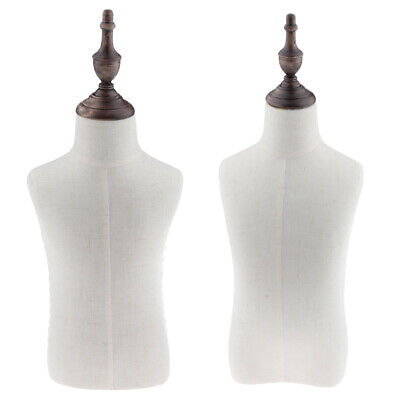 2x Body Dress Form Mannequin Torso Dressmaker Stand Display For Kid Cloth
