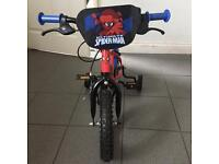 Spider-Man bicycle age 3-4 years
