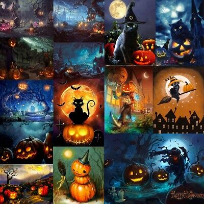 Halloween 5 Part 4 (5D DIY Full /Part Drill Diamond Painting Halloween Cross Stitch Home Wall)