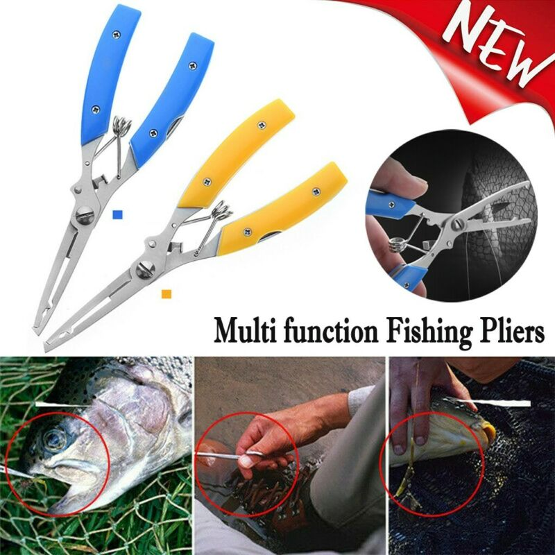 Handle Bait Line Cutter Stainless Steel Scissor Fishing Pliers Hook Removers