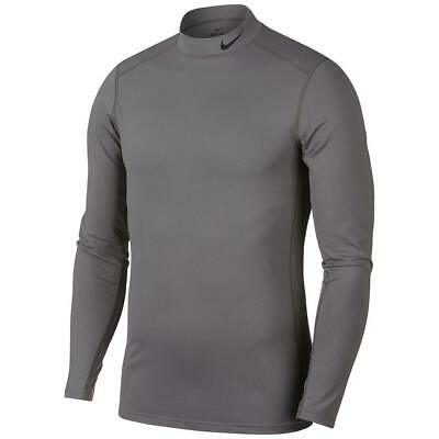 Nike Dry Men's Mock Neck Grey Chevron Print LS Thermal Top (AJ6699-036) M & XXL Nike Mock Neck