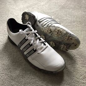 Adidas Powerband Tour Golf Shoes, UK Size 7 (Style version: Q46756) WORN TWICE ONLY FROM NEW