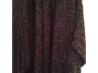 Brown long cardigan with three quarter sleeves as new