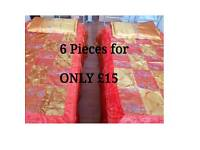 New beautiful and shiny designed Flat sheet for single Beds - - 6 Pieces Set ..