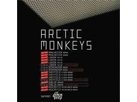 4x Arctic Monkeys standing tickets, O2 Arena London, Thursday 13th September 2018