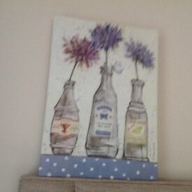 Lovely Bottled Flowers Canvas