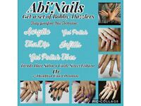 Abi'Nails get a set of Bobby-Dazzlers! Get beautiful professional nails at a great price!