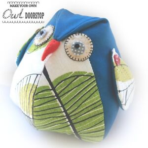Owl Door Stop Sewing Pattern Cute Craft For Your Home Or