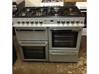 Flavel Millano100 dual fuel range silver and black