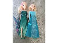 Frozen Elsa dolls (barbie sized)